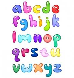 Bubble letters vector