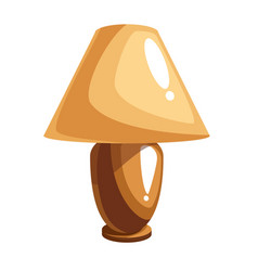cartoon table lamp vector image vector image
