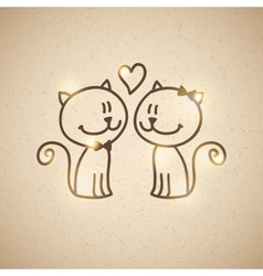 cats couple vector image