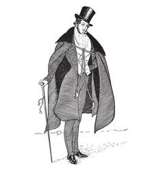 Count dorsay vintage vector