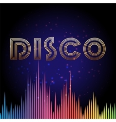 Disco background with soundwaves vector