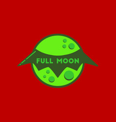 Flat icon on stylish background full moon bat vector