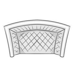 Football goal icon black monochrome style vector