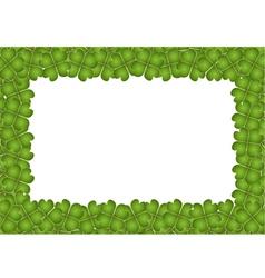 Four leaf clover frame with copy space vector
