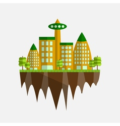 Future city in flat design vector image