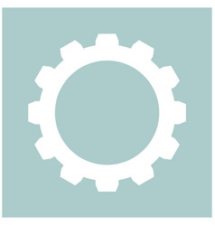 Gear the white color icon vector