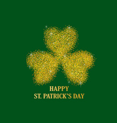 gold dust of three leaved shamrock vector image
