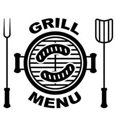 Grill menu symbol vector