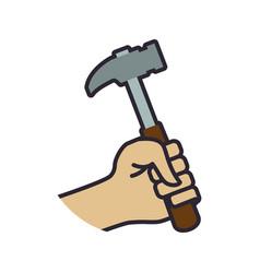 hammer construction tool equipment vector image