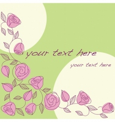 hand drawn background with roses vector image vector image