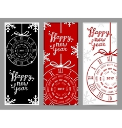 Happy New Year 2017 greeting cards vector image vector image