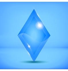 ice rhombus vector image vector image
