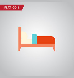 Isolated bed flat icon bearings element vector
