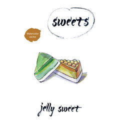 Jelly sweet watercolor vector