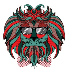 Lion Hipster6 vector image