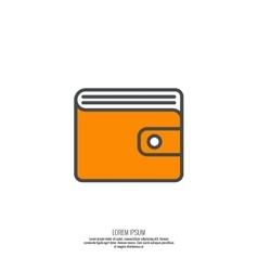 Mens wallet with cash vector image vector image