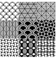 monochrome abstract seamless pattern vector image