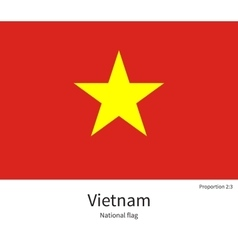 National flag of vietnam with correct proportions vector