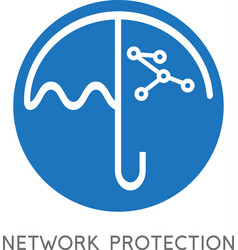 Network protection business concept with umbrella vector