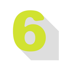 Number 6 sign design template element pear icon vector