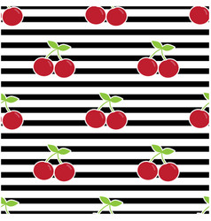 pattern with cherries vector image vector image