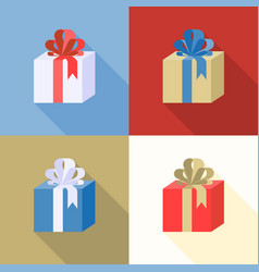 present boxes icon collection vector image