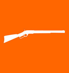 Rifle white icon vector