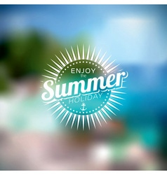 summer holiday on blurred background vector image vector image