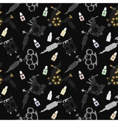 Tattoo machines black seamless pattern vector image vector image