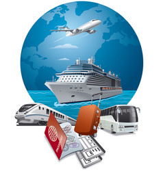 Travel and journey transport vector