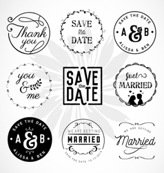 Wedding Design Elements Badges and Labels vector image vector image