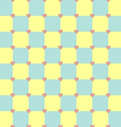Yellow and turquoise colors pattern with pink vector image vector image