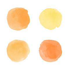 Yellow orange watercolor splash vector