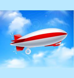 Zeppelin on sky composition vector