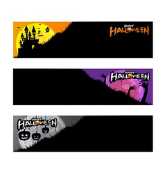 Happy halloween party calligraphy banner on white vector