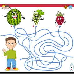 Path maze activity game vector