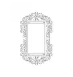 Baroque rococo frame decor vector