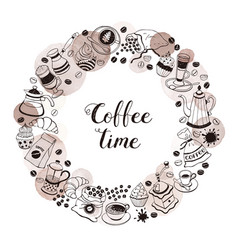 coffee time poster vector image