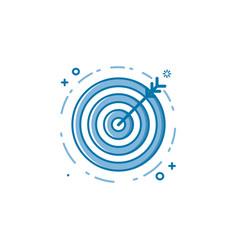 Flat bold line target goal vector