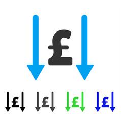 Receive pound flat icon vector