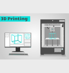 Printing in 3d vector