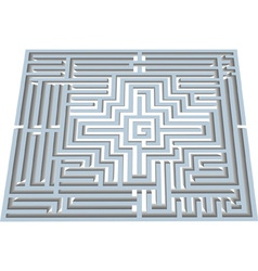 Labyrinth in perspective vector image