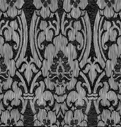 Black and white abstract striped floral pattern vi vector