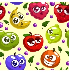 Fruits characters pattern vector
