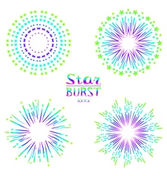 Set of retro abstract backgrounds vector
