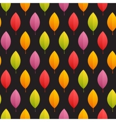 Autumn Leaves Seamless Pattern on Dark Background vector image