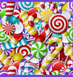 Seamless background with colorful candies vector