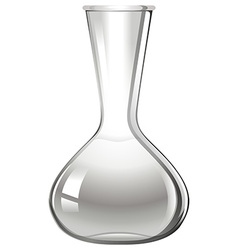 Empty glass beaker on white vector