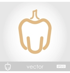 Pepper icon vector