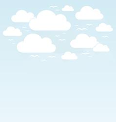 Sky birds2 vector image